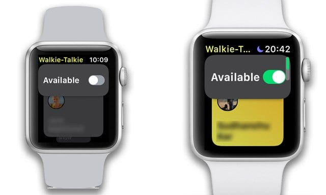 apple watch walkie talkie status available