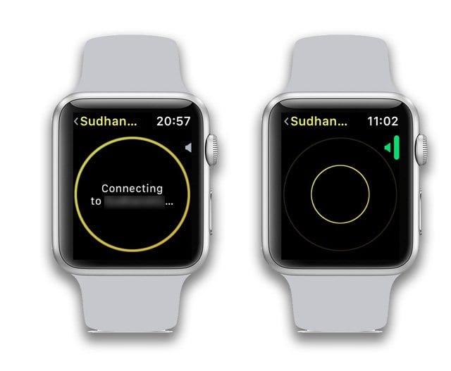 connection issues on Apple Watch walkie-talkie