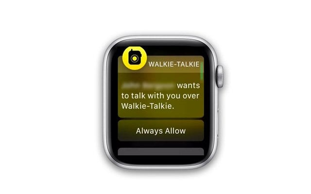 stuck on invitation with apple watch walkie talkie