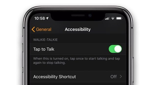 tap to talk on apple watch watchOS 5 walkie talkie