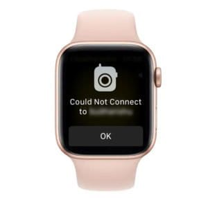 apple watch walkie talkie could not connect message