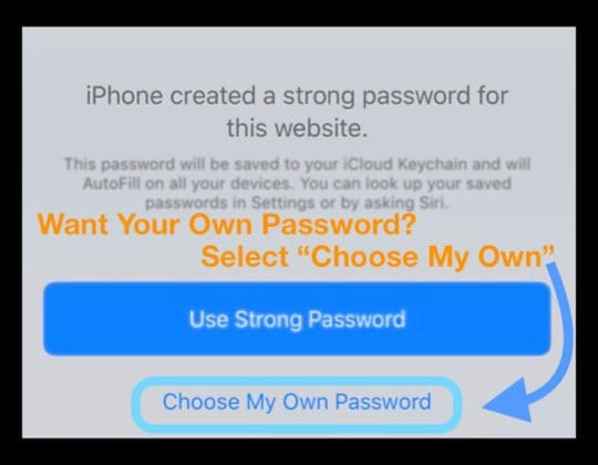 Make Up Your Own Password for iOS 12
