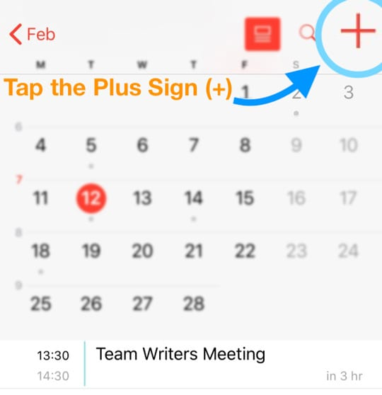 Add iOS calendar event iPhone