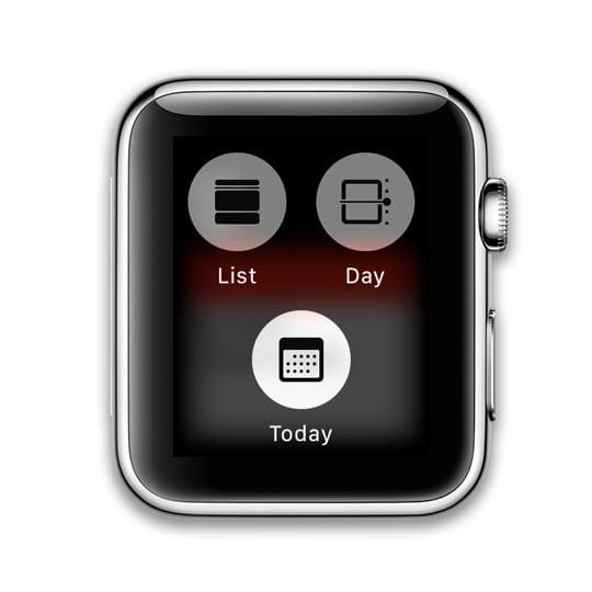 calendar display modes for watchOS 5 Apple Watch