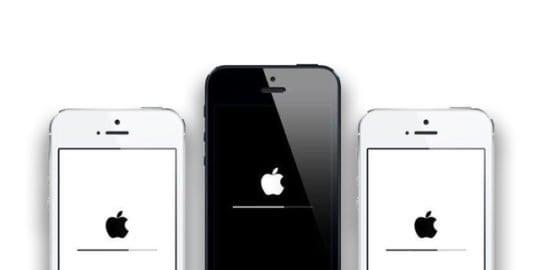 iOS install stuck on apple logo and progress bar