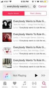 Apple Music Lyric Search