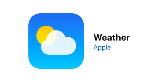 apple's weather app for good morning lock screen