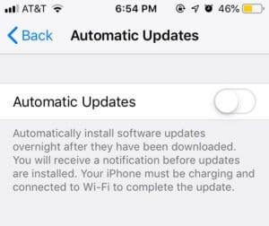 iOS 12 Automatic App Updates