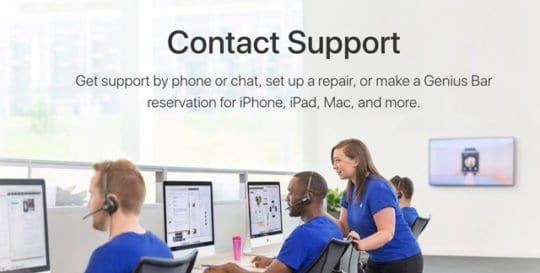 contact apple support 2018