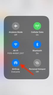 Enable iOS 12 Airdrop Setting