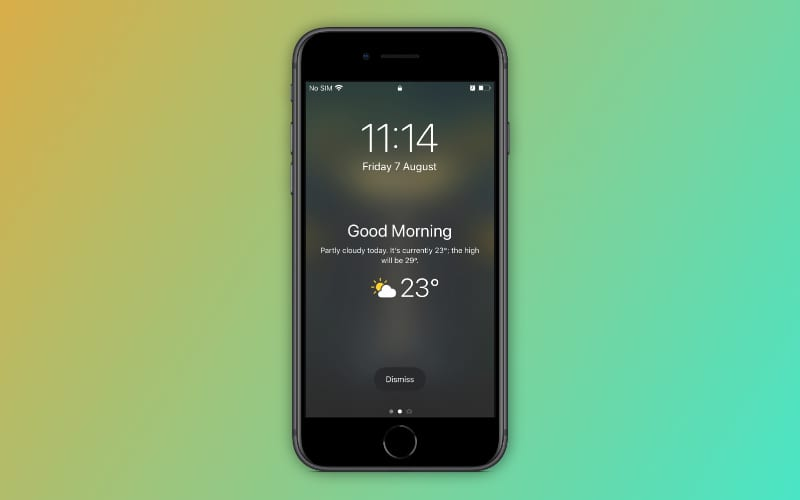 How to set up and use the Good Morning Lock Screen in iOS