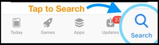search option in App Store App