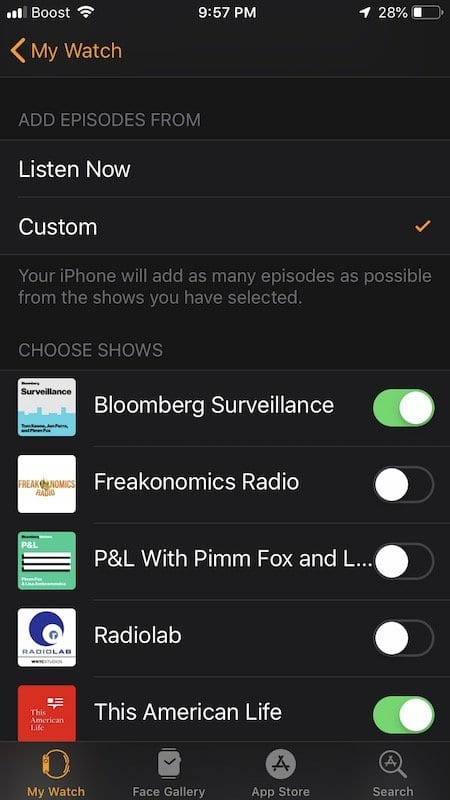 How to Setup and Play Podcasts on Apple Watch using watchOS 5