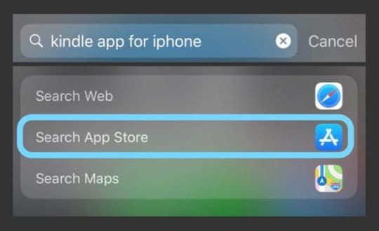 Search App Store Within Spotlight Search iPhone