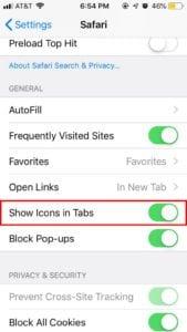 iOS 12 Safari Favicons