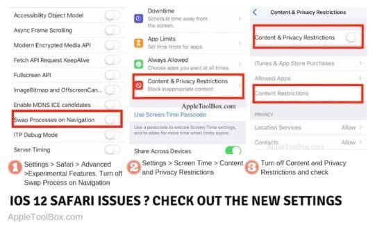 iOS 12 Safari Not Working, How-To Fix