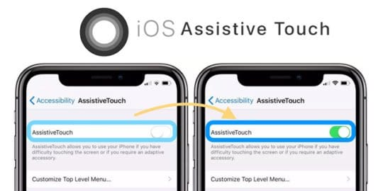 iPhone and iOS Assistive Touch ON