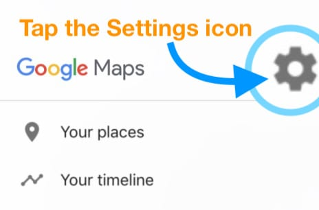 Google Maps in-app Settings Menu icon