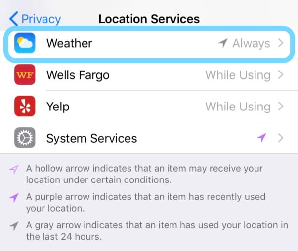 get weather widget on your iOS device lock screen using location services for weather app