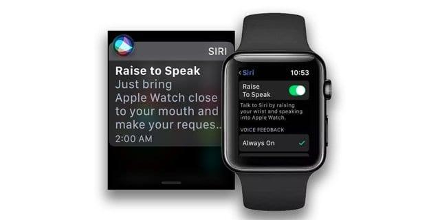 watchOS 5 Raise to Speak on Apple Watch