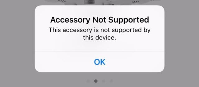 "Seeing ""this accessory is not supported by this device"" on your iPad or iPhone? - AppleToolBox"
