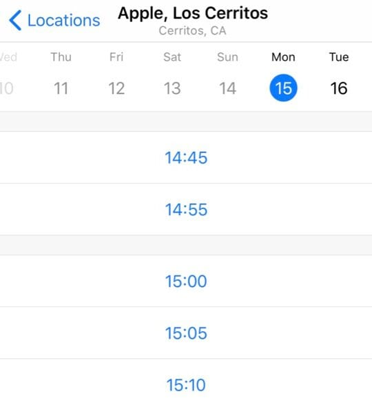 apple support select date and time for appointment with apple store genius
