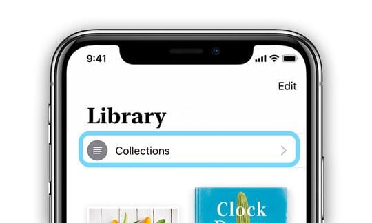 Collections in Apple Books iOS 12