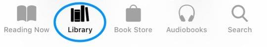 Apple Books Library Tab