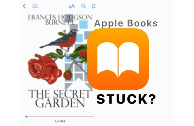 Apple Books Stuck on Cover Page