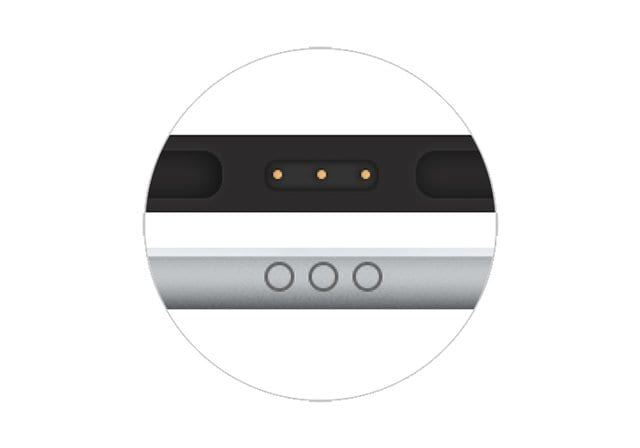 smart connector on iPad and keyboard