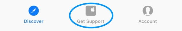 get support in apple support app