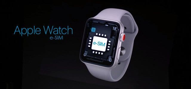 apple watch series 3 and 4 let eSIM