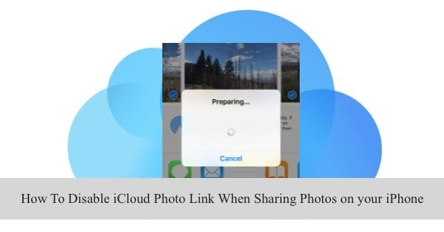 Disable iCloud Photo Link in Message