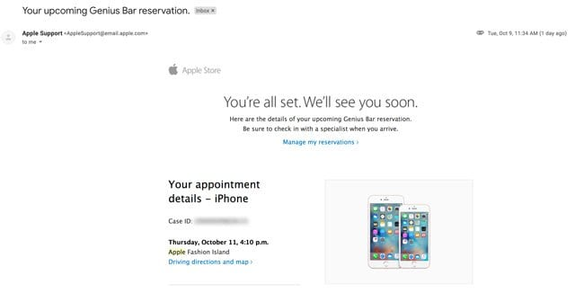 apple set appointment