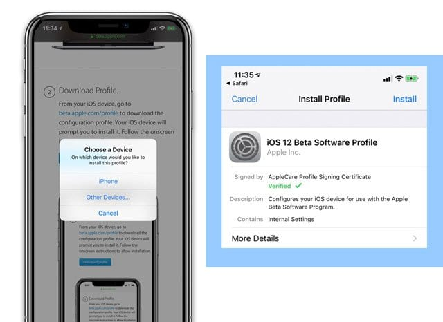 install iOS Beta onto a New iPhone