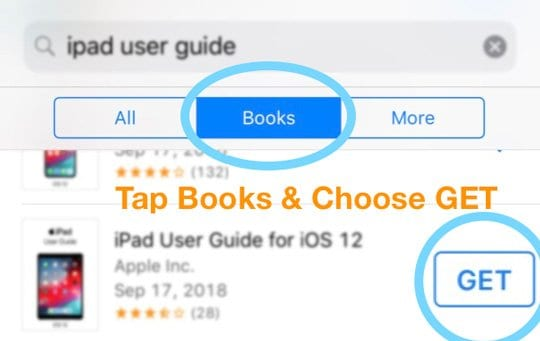 Get a free book from the iTunes Store and open in apple books or iBooks