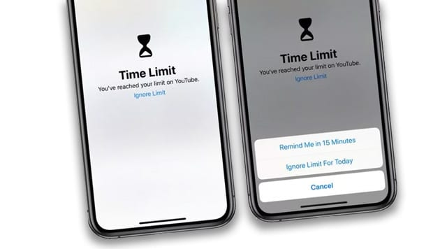 iOS Screen Time Limit Messages to Ignore Limit for Today