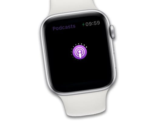 podcast app updating and syncing on apple watch watchos5