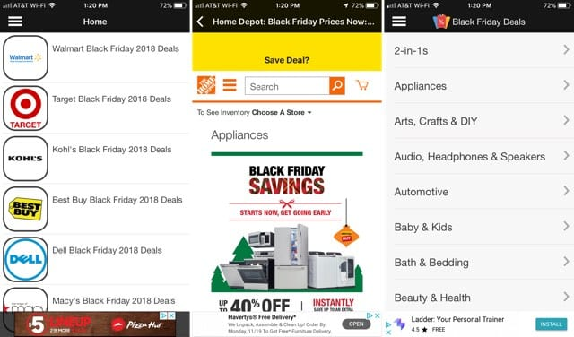 Black Friday 2018 Deals App iPhone