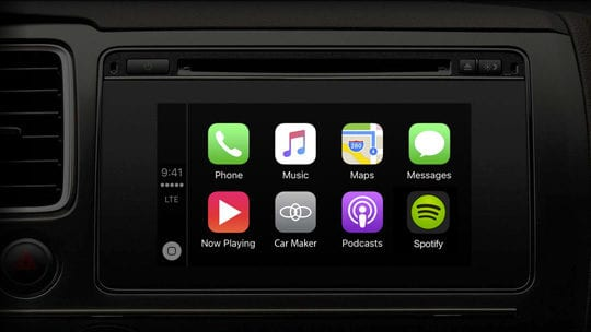 Spotify app on Apple CarPlay Dashboard