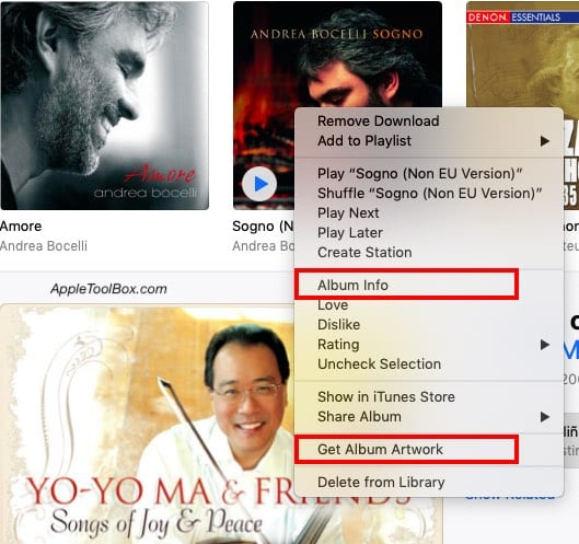 Add Artwork Grayed out in iTunes