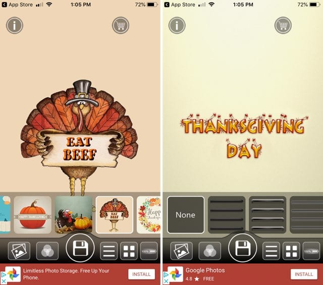 Thanksgiving Day Wallpapers Maker iPhone