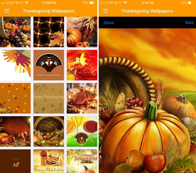 Thanksgiving Wallpapers HD iPhone