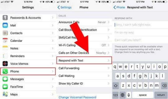 iOS 12 Custom Auto-Reply