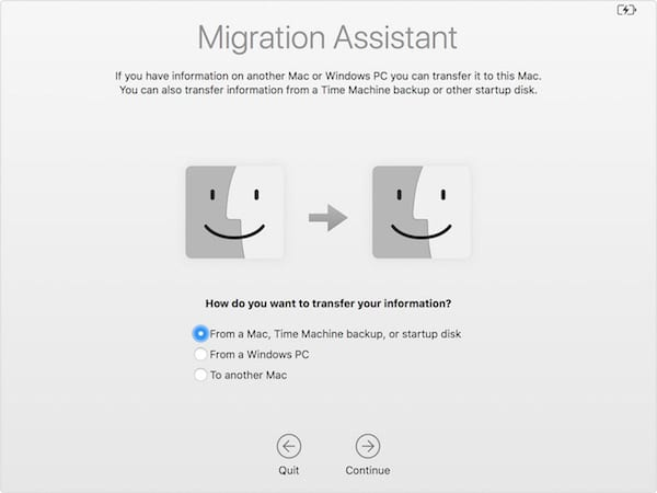 macOS Migration Assistant