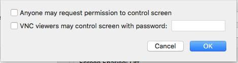 macOS Screen Sharing VNC