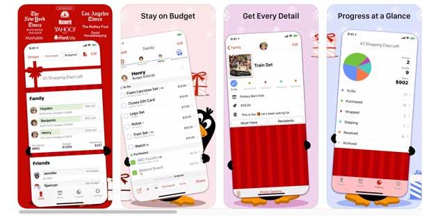 the christmas gift list app 2019