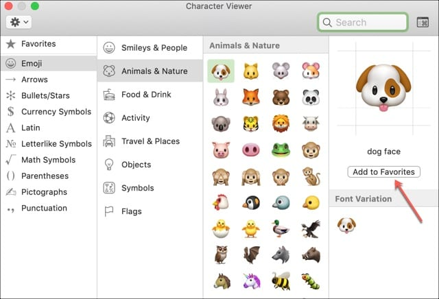 Add Favorite Emoji To Mail Mac
