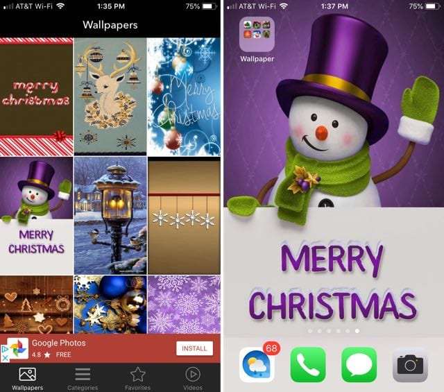 Christmas Wallpapers & Backgrounds iPhone