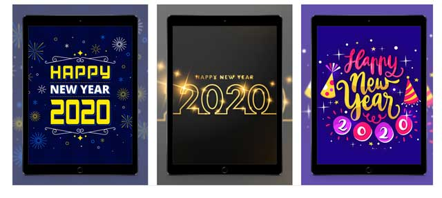 2020 new years wallpapers app